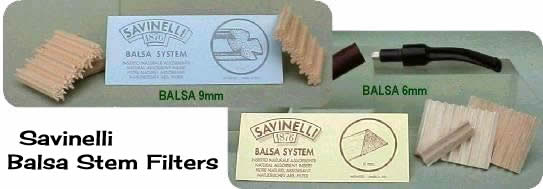 Balsa Stem Filters for Pipes