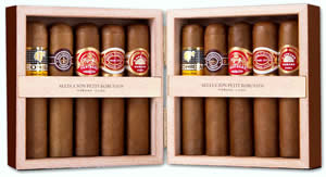 Petit Robusto Selection 10 cigars (90mm x Ring 50) - 5 Brands
