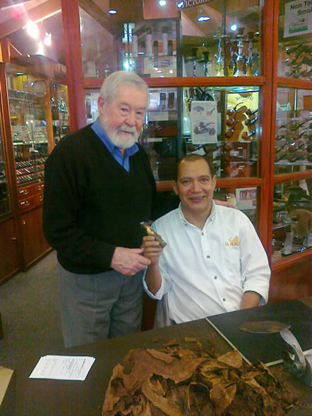 Luis Lopez, a top cigar roller from the La Aurora