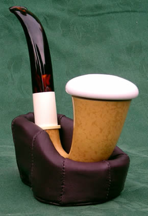 CALABASH PIPES with removable block meerschaum bowls