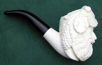 Classic Carved Meerschaum Pipe