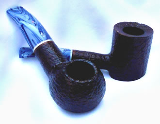 Savinelli Oceano Rustic Pipe with Ocean Blue Mouthpiece