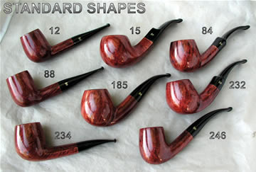 Stanwell Standard Pipe Shapes