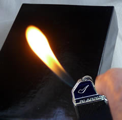 Eurojet Flint Pipe Lighter with angled flame