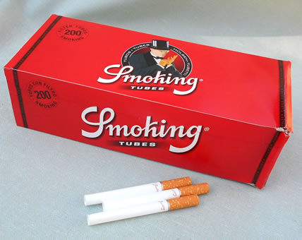 Smoking Cigarette Tubes de Luxe, Filter; 200 Kingsize