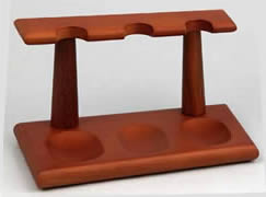 Wooden Pipe Rack for 3 pipes