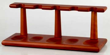 Wooden Pipe Rack for 5 pipes