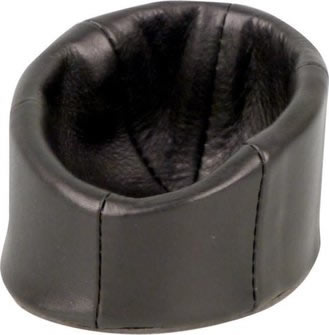 Soft Black Leather Beanbag Pipe rest