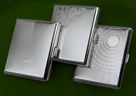 NICKEL CIGARETTE CASES