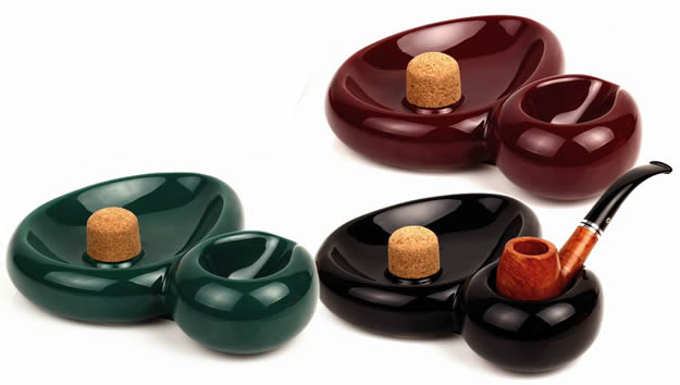 Savinelli Ceramic Sidecar pipe ashtray, Made in Italy