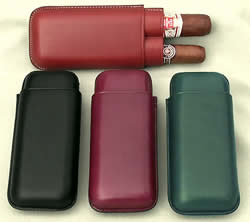 Firm leather Telescopic Cigar Cases From Spain