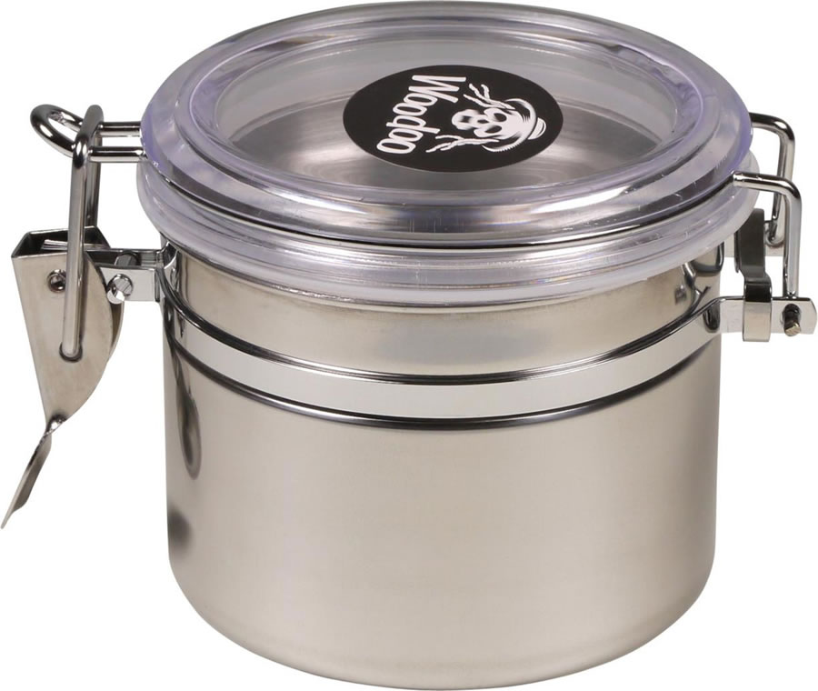 Woodoo can, stainless steel