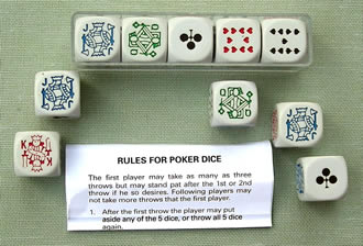 poker dice rules