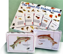 Trout  fly fishing playing cards