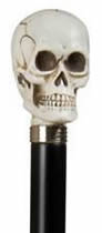 Skull cane, imitation ivory Walking Stick