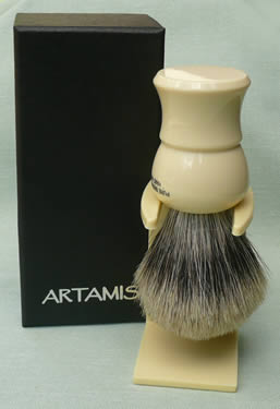 Pure Badger 20mm Shaving Brush, faux ivory handle
