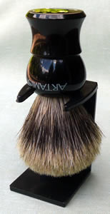 Pure Badger 20mm Shaving Brush, black handle