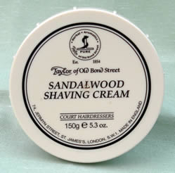 Sandalwood - Taylor of Bond Street shaving cream in tub