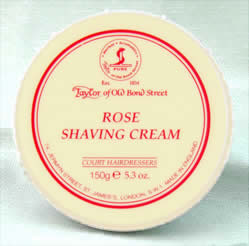 Rose - Taylor of Bond Street shaving cream in tub