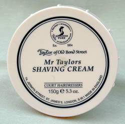 Mr Taylor's - Taylor of Bond Street shaving cream in tub