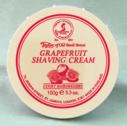 Grapefruit - Taylor of Bond Street shaving cream in tub, 150g