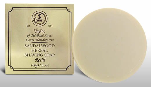 Taylor of Bond Street 100g shaving soap refill, Sandalwood