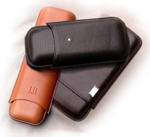 Alfred Dunhill White Spot Leather Cigar Cases
