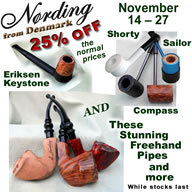 From 14 - 27 November, 25% off Normal price of Nording Pipes