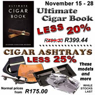 15 - 28 November offer: 20% off The Ultimate Cigar Book, 4th Edition -  25% off any Cigar Ashtray